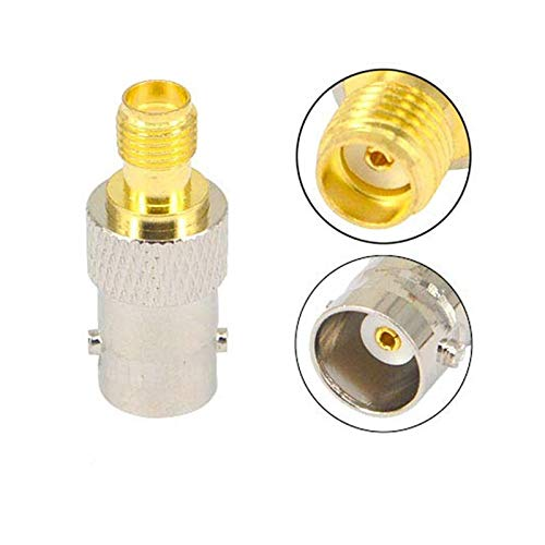 EWQK Connector RF adapter BNC-SMA BNC Male Jack Nickel Plating To SMA Female Plug Plating Jack RF Connector Straight for Satellite TV (Color : BNC K to SMA K)