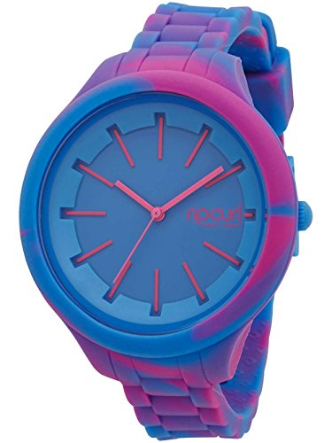 RIP CURL Womens Horizon Silicone Marbled Surf Watch Blu. Impermeabile a 3...