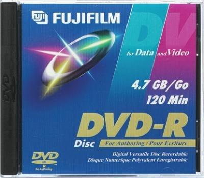 FUJI DVD-R FUJI/3 8X Recordable DVD-R Discs with Jewel Cases