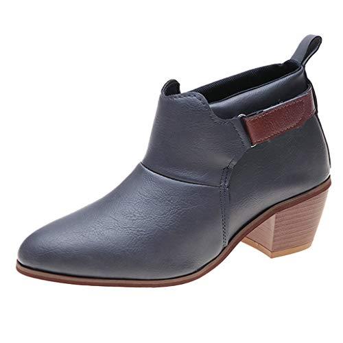 ELECTRI Bottines Hiver Femmes, Chaussures Plates Ville Talons Plats Boots Chelsea Printemps Fourrure Bottes de Neige Intérieur Fourrée Velour Confortable Gris