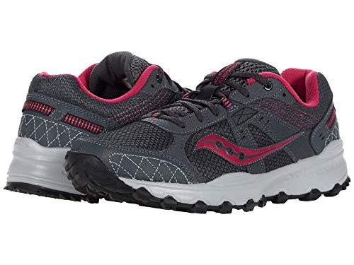 Saucony Women's Grid Raptor TR 2 Running Shoe, Charcoal/Pink, 8.5