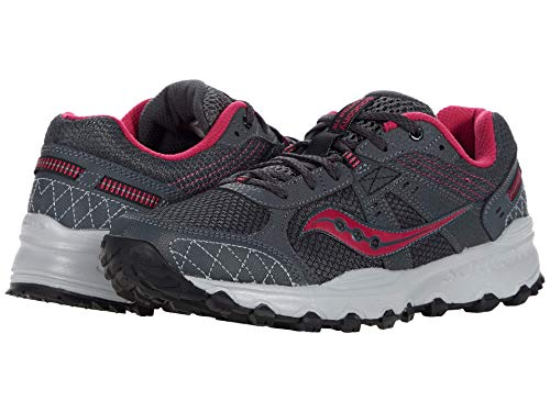 Saucony Ladies's Grid Raptor TR 2 Operating Shoe, Charcoal/Pink, 10.5 thumbnail