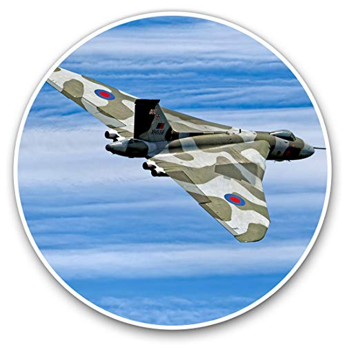 2 x Heart Stickers 10 cm - Avro Vulcan B2 Bomber Plane Fun Decals for Laptops,Tablets,Luggage,Scrap Booking,Fridges #16142