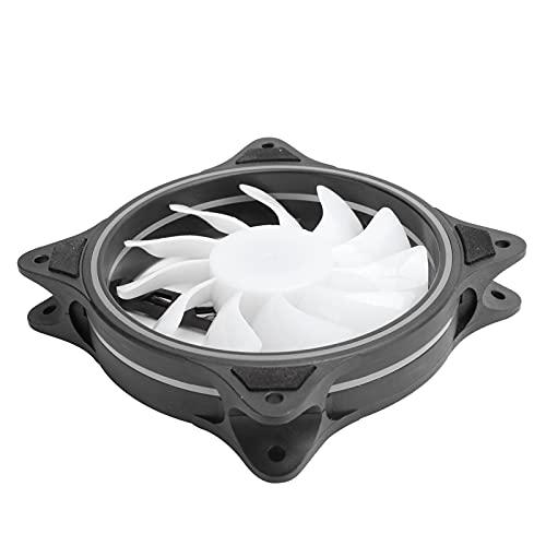 SALUTUY Ventilador de refrigeración del chasis, Ventilador de refrigeración de bajo Ruido Ajustable silencioso a Prueba de Golpes para portátil portátil Cooler Pad