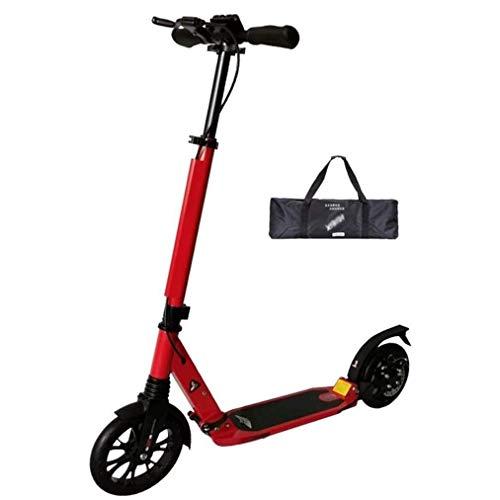 Scooter Patinete Montar portátil al aire libre kick scooter-adulto Vespa plegable Fácil - Kick Ligera Vespa con discos de freno de mano, 200 mm ruedas grandes, 330 libras Capacidad de peso Scooter de