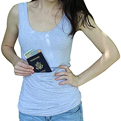 Clever Travel Companion Unisex Tank Top with Hidden Zipper Pockets