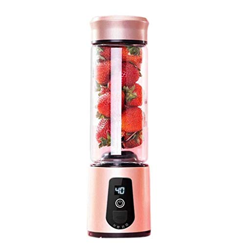 Amazing Deal Portable Blender Electric Juice Cup 450ML With 6 Stainless Steel Sharp Blades for Home ...