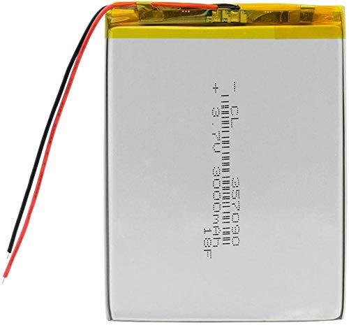 3,7 v 357090 batería de Litio 3000 mah lipolímero Pilas Recargables Celdas para mp5 DVD GPS cámara Tableta e-Book 1 Pieza-2 Piezas