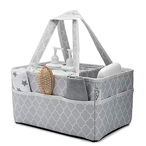 Cesta organizadora grande para pañales de bebé, cesta port