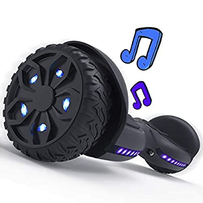 TOMOLOO Wide Wheels Hoverboard with Wireless Bluetooth Speaker and Blue LED Lights Design Self Balancing Wheels- UL2272 Certified