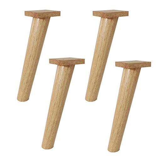 ZTMN Set van 4 massief houten meubelpoten, 100% eiken, bank voeten kabinet voet tafelpoten ondersteuning houten poten, voor bank, Ottomanen, salontafel, bed eettafel (12.6inch/32cm)