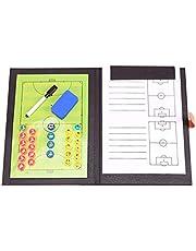 Voetbal Coaching Board Tactisch Bord, 5-a-side Voetbal, PU-materiaal, 48 X 32 cm, Foottball Coach Board Foam Foottball Strategy Board Breng Pen, Opvouwbaar Ontwerp