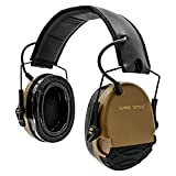 HEARING TACTICAL Ear Protection Electronic Shooting Ear Defender Noise Reduction for Gun Range Shooting Range 22db Safety Earmuffs