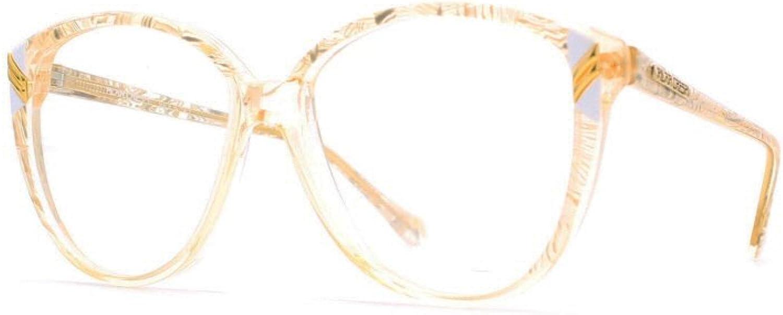 Pilar Crespi 606 LB1 Pink and Clear Authentic Women Vintage Eyeglasses Frame