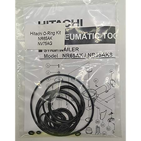 NR65AK NV75AG O-Ring Kit For Hitachi 2-1//2 Strap-Tite Strip Nailer With Trigger O-Rings