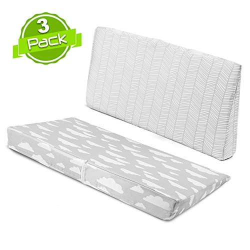 BaeBae Goods Crib Wedge – Wedge for Baby Sleeping with 2 Removable Pure Cotton Covers – Baby Crib Wedge to Relieve Reflux and Colic – Crib Insert for Newborns and Infants – Crib Wedge for Reflux