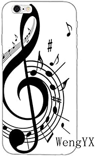 Black White Piano Pattern Galaxy S7 Edge Case Beige Music Theme I Phone Cover Instrument Keyboards Italian Organ Musical Orchestra Classic Italy Cellphone Protector, Plastic