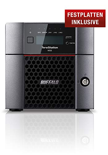 Buffalo TeraStation WS5220DN08W6EU Desktop NAS mit Windows Storage Server 2016, 8 TB (inklusive 2 x 4 TB NAS HDDs)