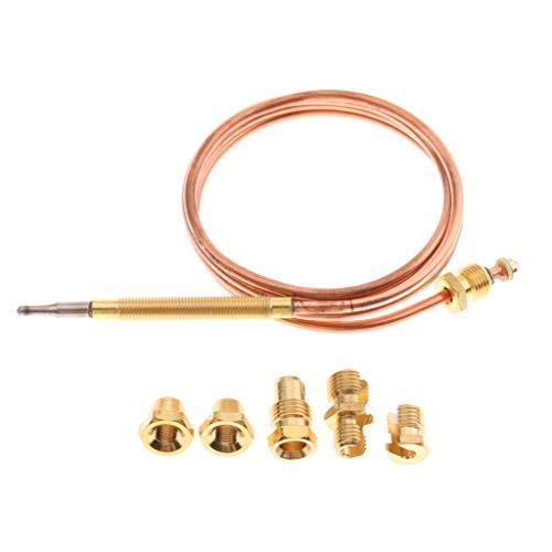 Universal Thermoelement 900 mm mit 5 Adaptern Gasgrill Gasherd Bräter