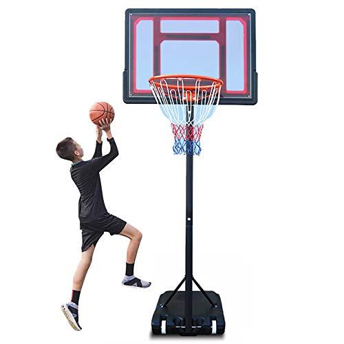 LXLA Basketballkorb Verstellbarer Tragbarer Basketballkorb 165-210 cm, Mini Basketball Ziel & Standsystem für Die Jugend Kinder Junior Innen Draussen Verwenden