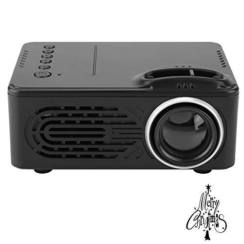 Mini proiettore - Videoproiettore portatile 1080P supportato, proiettore cinematografico portatile con durata della lampada a LED da 20.000 ore, compatibile con la scheda TF disco rigido (Spina UE)