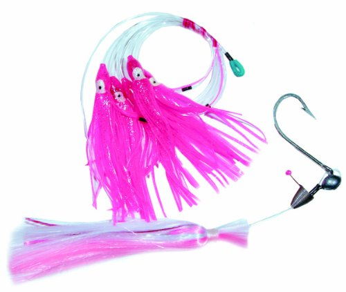 Blue Water Candy Super Star Rig with Size 8/0 Ballyhoo Rig, Daisy Chain, Pink and White