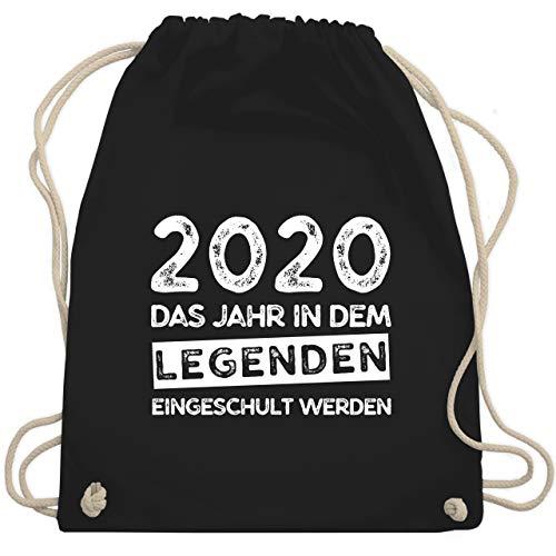 Shirtracer Einschulung und Schulanfang - 2020 Das Jahr in dem Legenden eingeschult werden - Unisize - Schwarz - schulanfang - WM110 - Turnbeutel und Stoffbeutel aus Baumwolle