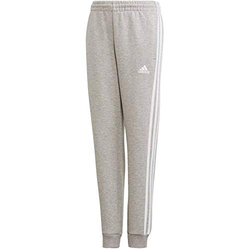 adidas Yb Mh 3s Pant Sport Trousers, Niños, Medium Grey Heather/White, 910Y