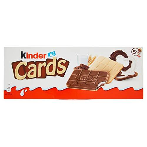 KINDER Cards chocolatinas paquete 5 uds 128 gr