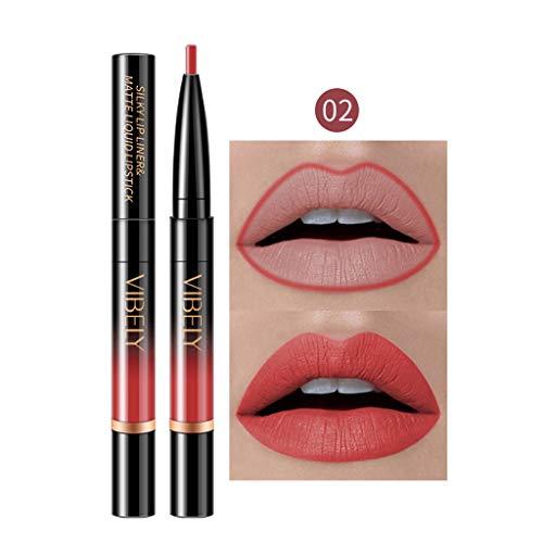Lipliner und Lippenstift Duale Verwendung 16 Farbe, lipliner matt wasserfest lipliner matt set braun...