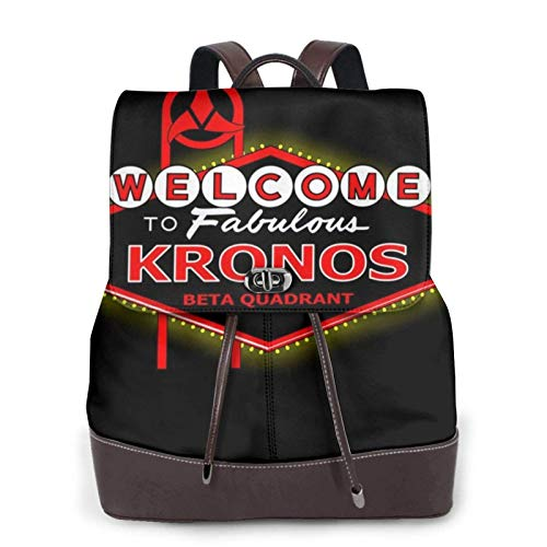 Viva Kronos Star Trek Las Vegas Women's Bapack, College Girl School Bag, Ladies Travel Bapack, Ladies Leather Bapackck