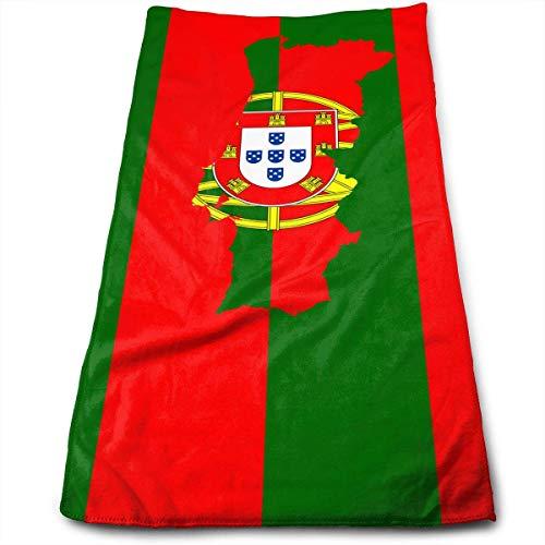 Pizeok Mapa de Portugal Bandera Toalla Multicolourusos de Microfibra Toallas de baño Toallas de Mano Toallas de Mano Toallas de baño Toallas de baño
