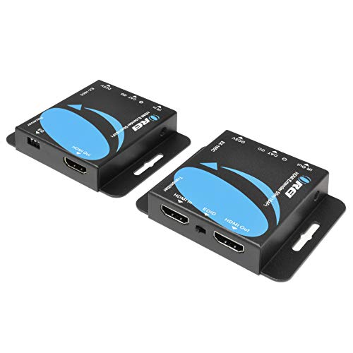 OREI 164-Feet HDMI Extender Over Single CAT5e/CAT6 up to 1080p, Full HD, Loop Out Option, with IR (EX-165C)
