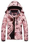 MOERDENG Women's Waterproof Ski Jacket Warm Winter Snow Coat Mountain Windbreaker Hooded Raincoat