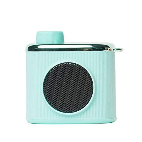 ZYJ Retro-Kamera-Lautsprecher Bluetooth 4.2, Freisprecheinrichtung Bluetooth Démodés Tragbare Improving Low Volume Hoch, Haus, Büro, Küche Musik Reader,Weiß