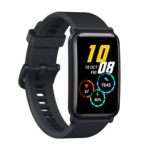 """HONOR Watch ES Reloj Inteligente Ritmo Cardíaco Monitor, Monitor SpO2 y Sueño, Entrenador Virtual Animado, 1,64"""" Pantalla Táctil AMOLED, Meteorito Negro"""