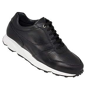 Zapatos de Hombre con Alzas Que Aumentan Altura hasta 7 cm. Fabricados EN Piel. Modelo Lyon. (40, Negro)
