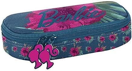 Piórnik Barbie w rózowe kwiaty: BAI-013