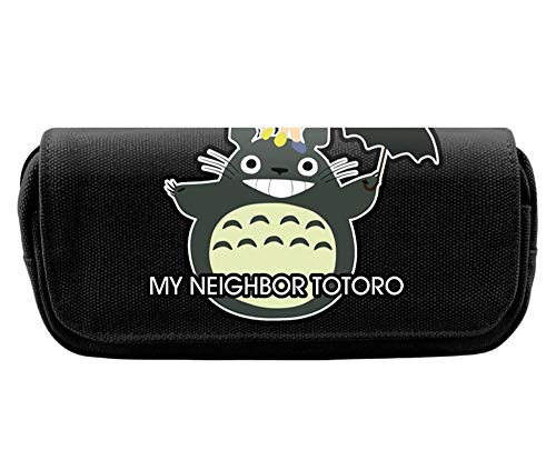 Pencil Case Totoro Large Capacity Pencil Cases/Pen Case/Pencil Bag Pouch Compartments for Boys Girls Middle High School Students Adults and Office Supplies