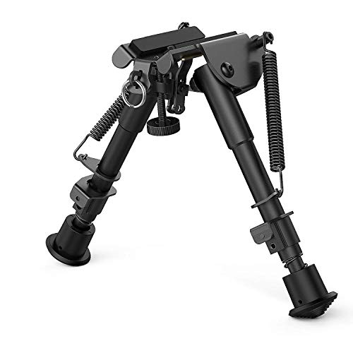 Feyachi 6-9 Inches Adjustable Height Swivel Style Bipod Tilting Built in...