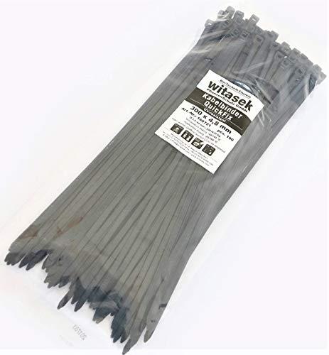 AGROFLOR QuickFix Kabelbinder, 100Stück, wiederöffenbar und wiederverwendbar, 4,8mm x 30cm