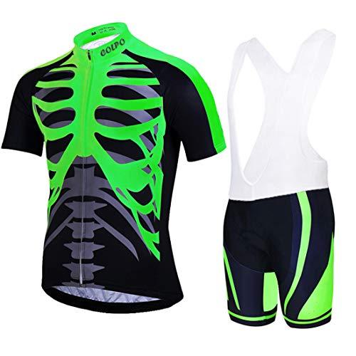 Mountain Bike Cycling Jersey Set Jersey de Ciclismo Camisa de Manga Corta + Pantalones Cortos de Bicicleta Hombres
