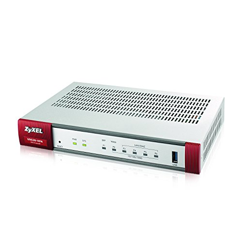 Zyxel Next Generation VPN Firewall with 1 WAN, 1 SFP, 4 LAN/DMZ Gigabit Ports [USG20-VPN]