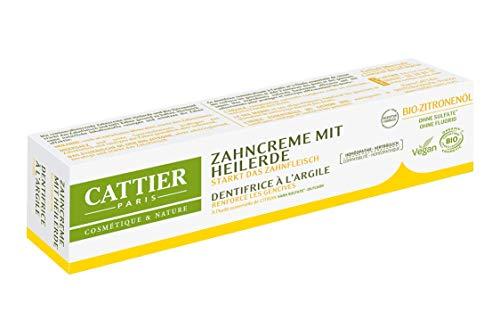Cattier Zahncreme mit Heilerde Zitrone, 1er Pack (1 x 75 ml)