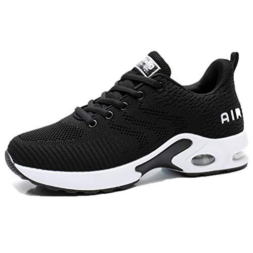 Dannto Damen Turnschuhe Laufschuhe Atmungsaktiv Sportschuhe Wanderschuhe Leichte Modische Sneaker Mesh-Bequeme Schuhe für Outdoor Fitness Gym (Schwarz,37)