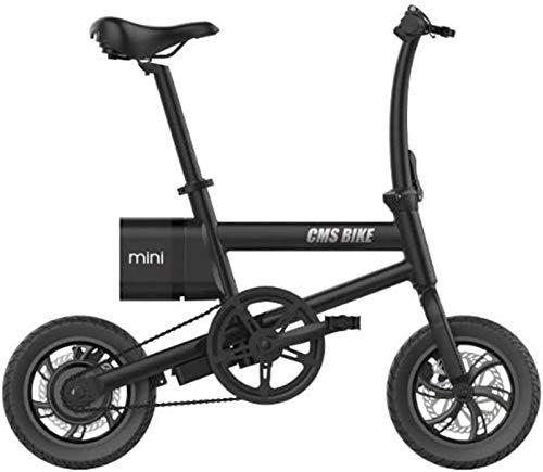 Fangfang Bicicletas Eléctricas, Bicicleta eléctrica para Adultos 12 en Bicicleta eléctrica Plegable MAX Speed 25km / h con batería de Litio de 36V 6Ah para Viajes de Ciclismo al Aire Libre,Bicicleta