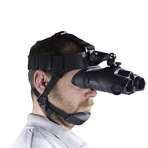 XINHUANG HD Head Mounted Nachtsichtbrille Fernglas NV Brille 1x24 Headmount Vision Infrarot-Nachtsichtgerät for die Jagd Camping Helm-Typ