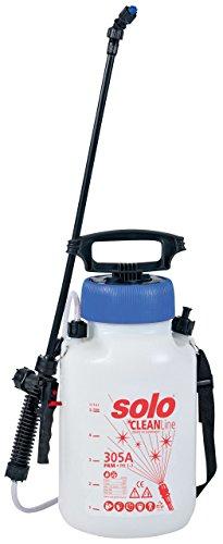 SOLO 30501 Drucksprühgerät – säurebeständiger/säurefester 5 Liter Drucksprüher – für Reinigungsmittel mit pH Wert 1-7 Reinigungs-Druckspritze CLEANLine