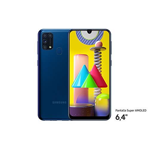 Samsung Galaxy M31 - Smartphone con Sistema Android. Teléfono Libre, Color Azul [Exclusivo Amazon] [Versión española]