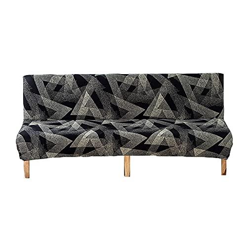 Fundas de sofá Funda de sofá sin Brazos, Funda de sofá elástica Funda de futón Funda de sofá Cama Plegable Antideslizante Lavable con Estampado Protector de Muebles sin apoyabrazos